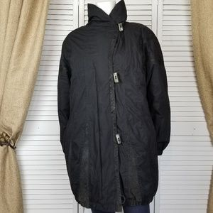Vintage Cyclone down puffer toggle coat Sz S